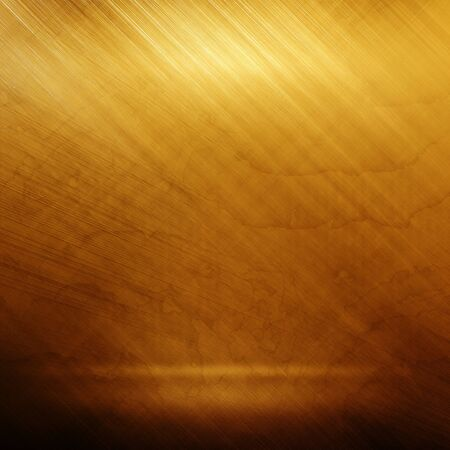 brushed steel: Old gold polished metal texture for design or background