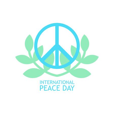 Simbolo di pace con rami di olive in colori chiari per poster Archivio Fotografico - 85121731