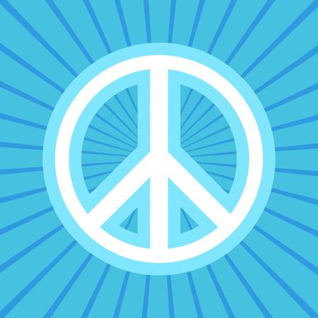 Peace Symbol per poster su proteste di amore, hippie e contro la guerra Archivio Fotografico - 85182172