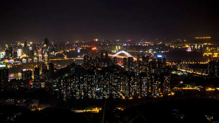 nightview: Nightview of the city from top of the mountain