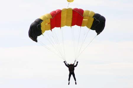 suspense: Parachutist Stock Photo