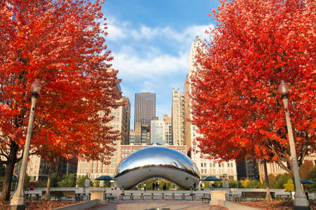 Chicago, Illinois. USA - November 06, 2011. Image of the Chicago Bean during the season of autumn.