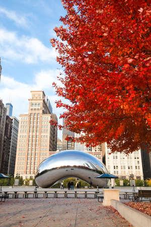 Chicago, Illinois. USA - November 06, 2011. Image of the Chicago Bean during the season of autumn.