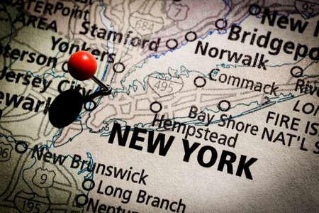 ニューヨーク地図 写真素材
