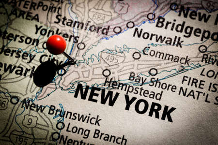 New York map Stock Photo