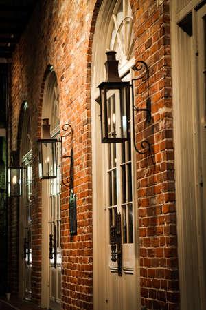 gas lamp: New Orleans - Street Scene