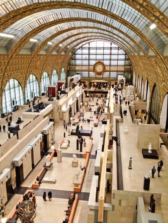 Paris, France - Jan 14, 2012: Paris, France - Image of the interior of the Mus?de Orsay in Paris, France. Stock Photo - 16309753
