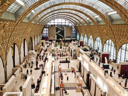 Paris, France - Jan 14, 2012: Paris, France - Image of the interior of the Mus?de Orsay in Paris, France. Editorial