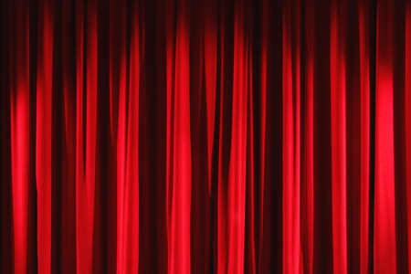 illuminate: Red velvet drapes curtain