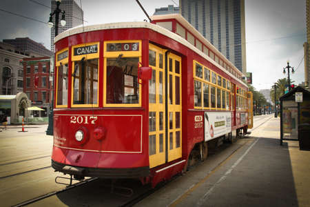 New Orleans, USA- April 20, 2011: Image of street car in New Orleans. Editorial