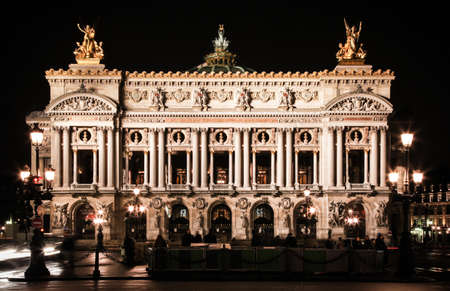 Paris, France - January 20, 2012: Image of the historical Paris Opera House at night.