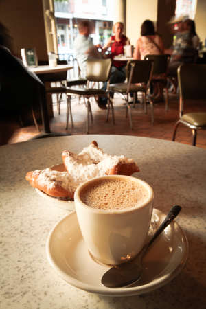 Coffee and Beignet Doughnuts