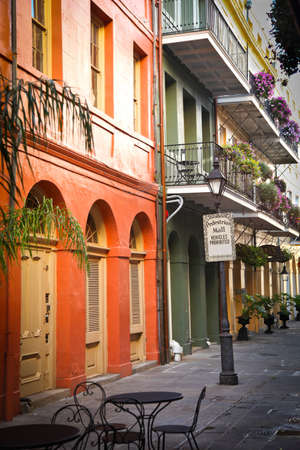 quarter: New Orleans, USA - April 23, 2011: Image of a street scene in The French Quarter in New Orleans.
