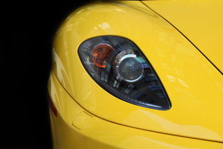 Chicago, USA - September 9 : Ferrari Fest 2012 held in Chicago, Ill. on September 9, 2012. Image of a yellow Ferrari fronted. Editorial