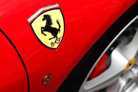 Chicago, USA - September 9 : Ferrari Fest 2012 held in Chicago, Ill. on September 9, 2012. Image of a red Ferrari fender.