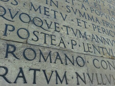 inscriptions: Old inscriptions in Rome