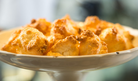 exquisiteness: golden exquisite cookies in ceramic vase Stock Photo