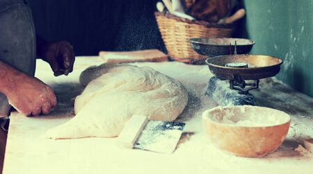 german ethnicity: process of making bread in a traditional bakery