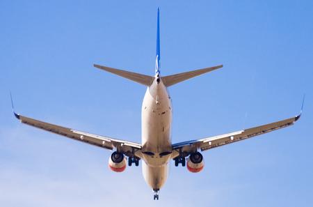 BARCELONA, SPAIN - MARCH 09, 2017:  SAS Airlines plane arriving at El Prat Airport on schedule. Barcelona, Catalonia
