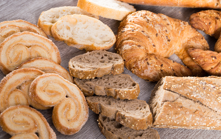 fresh apetics bakery products in wide variety Stock Photo