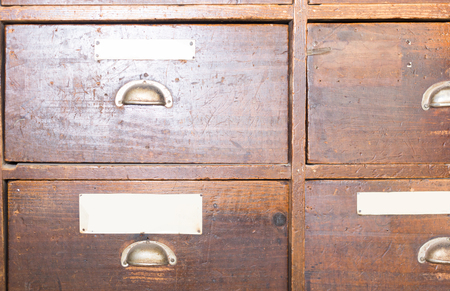 shabby Facades of wooden drawers retro Stock Photo