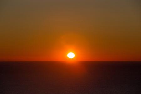 fiery sunrise over the sea