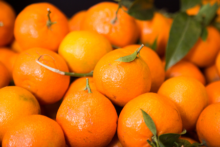 Closeup of ripe apetitic mandarins