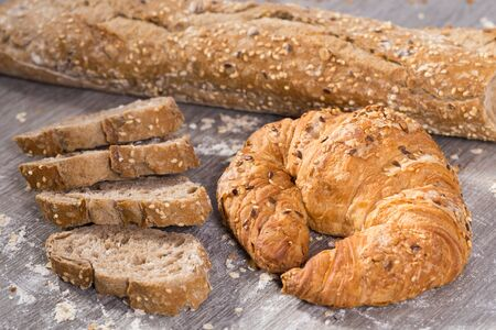 produits de boulangerie frais apétiques dans une grande variété