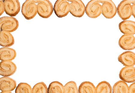 rectangular frame of cookies Palmier 写真素材