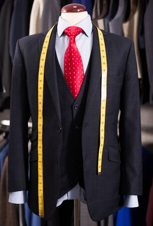 Elegant jacket with shirt and tie on mannequin 版權商用圖片