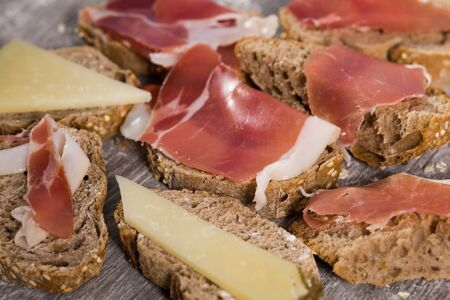 delicious sandwiches made with rye bread cheese and ham