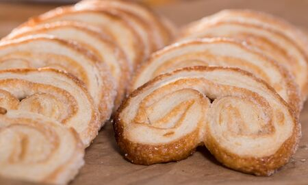 apetitic fried Palmier laid out on counter