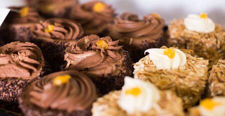 delicious cakes with hazelnut cream