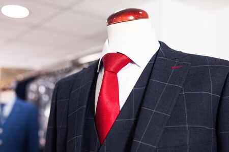 Elegant jacket with shirt and tie on mannequin Reklamní fotografie