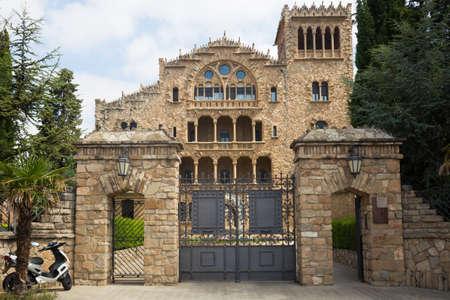 Asylum of Santo Cristo in Pla de San Agustin de Igualada. Cataluna. Spain Sajtókép