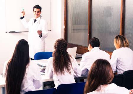 Medical students sitting in audience Zdjęcie Seryjne