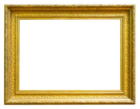 retro golden rectangular frame for photography on isolated background Zdjęcie Seryjne