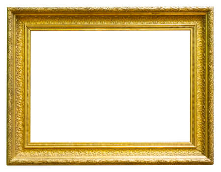 retro golden rectangular frame for photography on isolated background Stock fotó