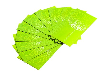 packets: Green Packet isolated on white background