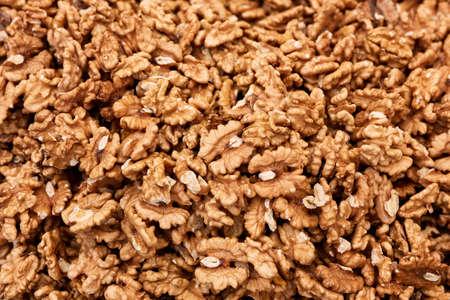 Top down view of a heap of walnut kernel Standard-Bild