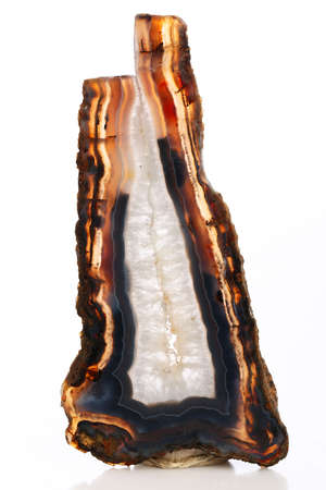 Mineral,colored agate with nacre rock geology Foto de archivo
