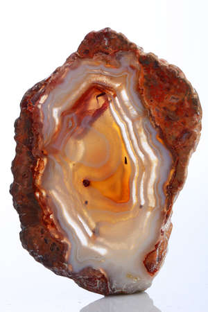 Mineral,colored agate with nacre rock geology Reklamní fotografie