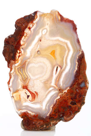 Mineral,colored agate with nacre rock geology Stock Photo