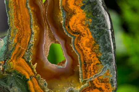 Mineral,colored agate with nacre rock geology Stockfoto