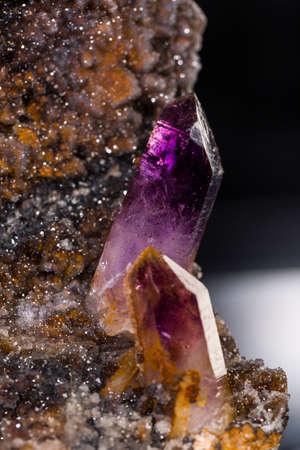 Amethyst specimen from Artigas, Uruguay Stock Photo