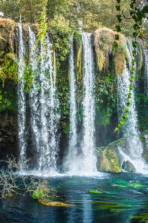 Famous Kursunlu Waterfalls in Antalya. Reklamní fotografie