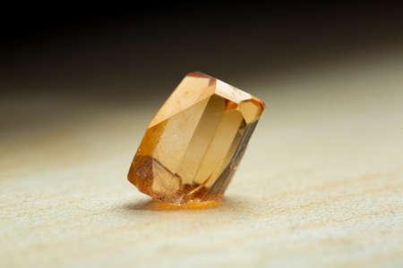Topaz yellow natural quartz blue gem geological crystals texture background