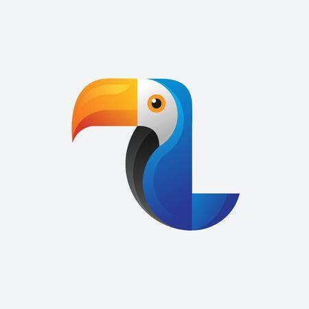 toucan bird vector mascot illustrations template Ilustracje wektorowe