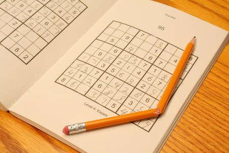 sudoku: Frustrating game of Sudoku Stock Photo