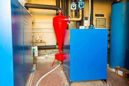 heat pump: Geothermal heat pump for heating in the boiler room